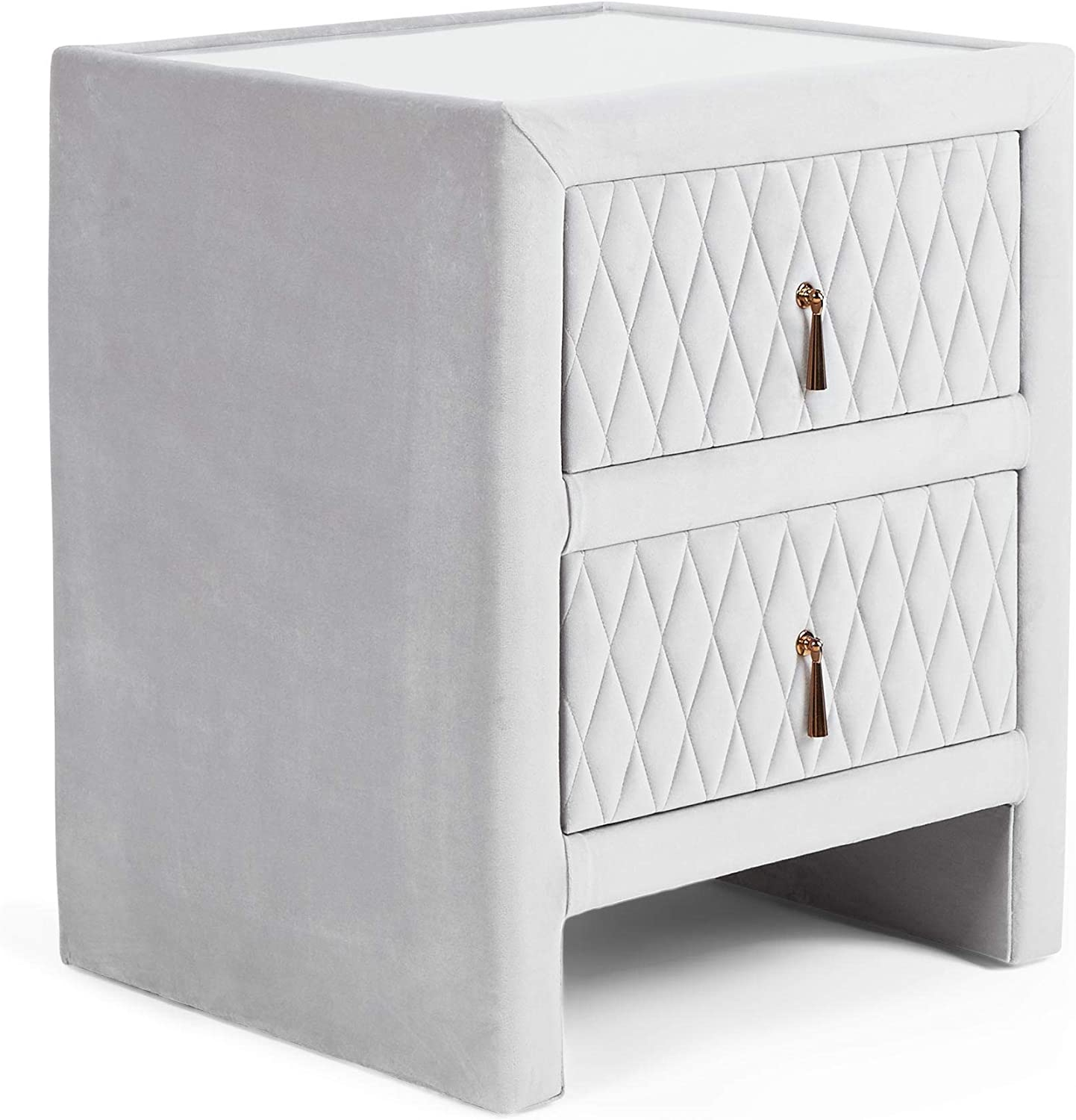 Beautify Grey Bedside Table Unit - Bedside Cabinet Night Stand