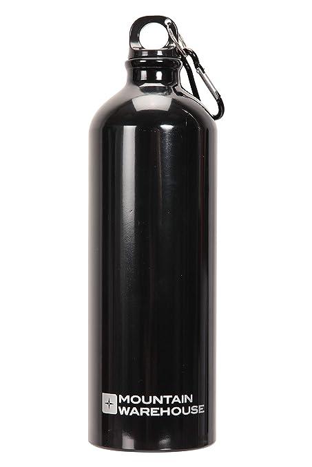 Mountain Warehouse 1L Botella metálica con Karabiner - Botella ...