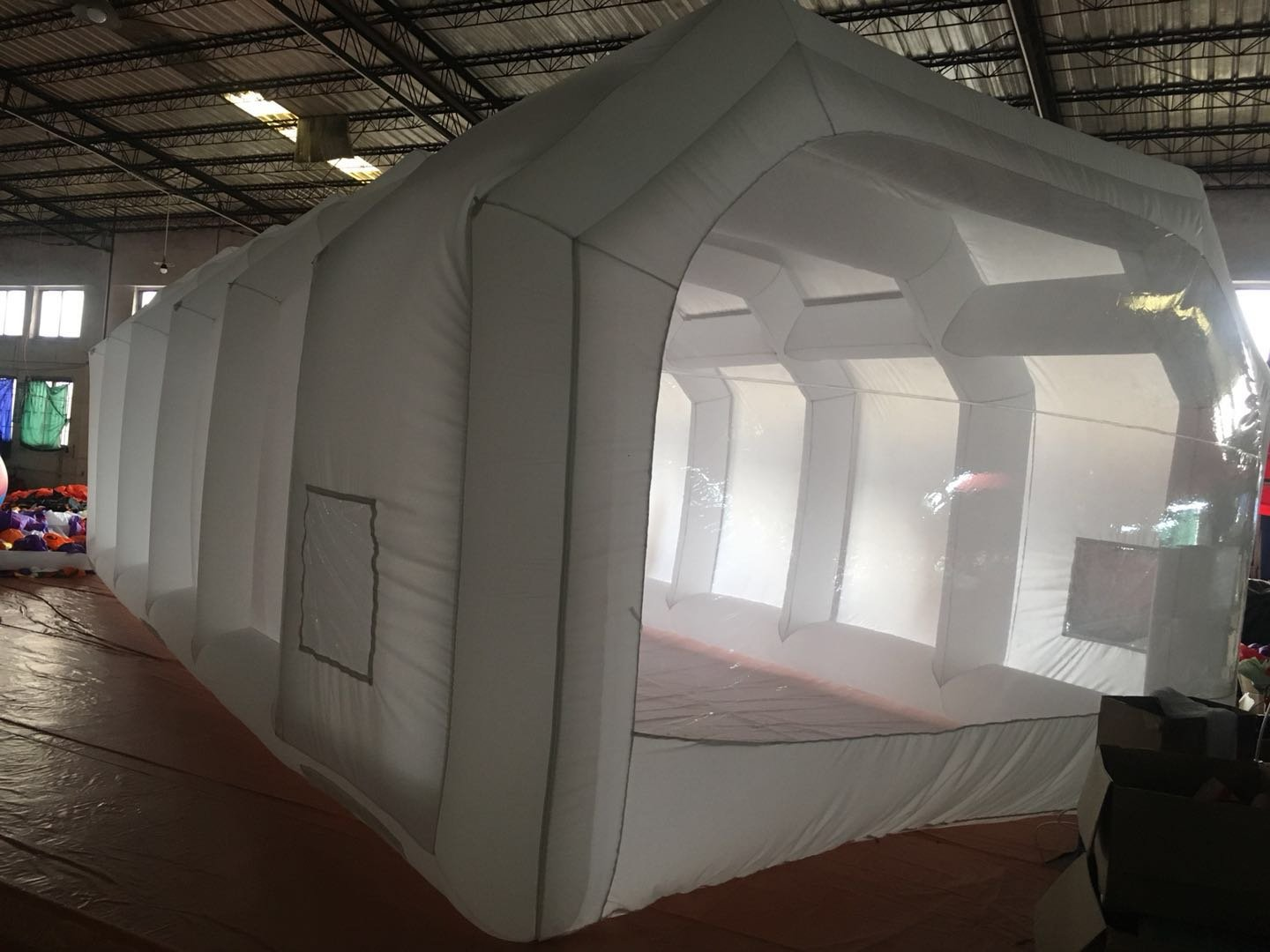 Inflatable Spray Booth Custom Tent Car Paint Booth Inflatable Car (White) ((26x13x10Ft)) by LIVIQILY (Image #2)