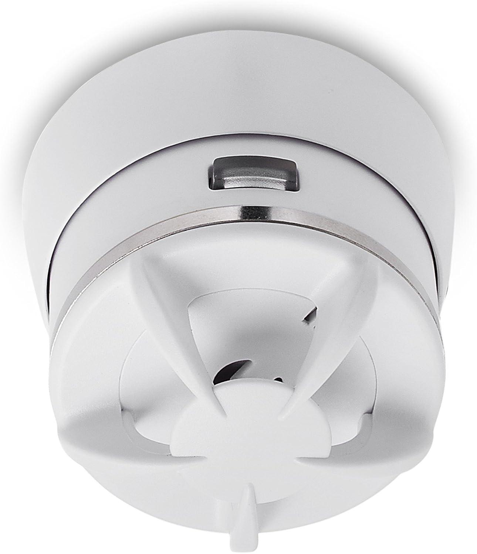 Elro 10.000.54 Mini Alarma de calor-10 a/ños de bater/ía Cavius 2002-003 Blanco