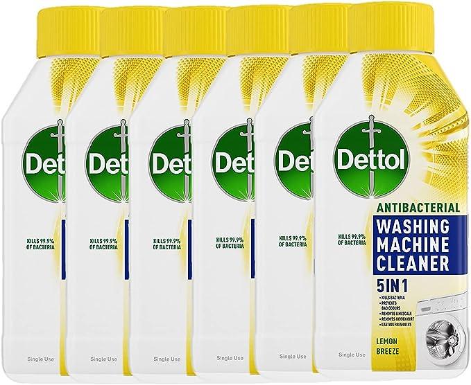 Dettol Washing Machine Cleaner Lemon Multipack, Pack of 6 x 250 ml