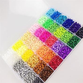 Juguetes para bebés 36 color de los granos DIY de Perler 12000 PC caja de fusibles