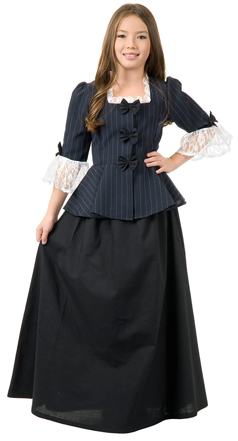 Colonial Girl Child Costume Child (Large (10-12))