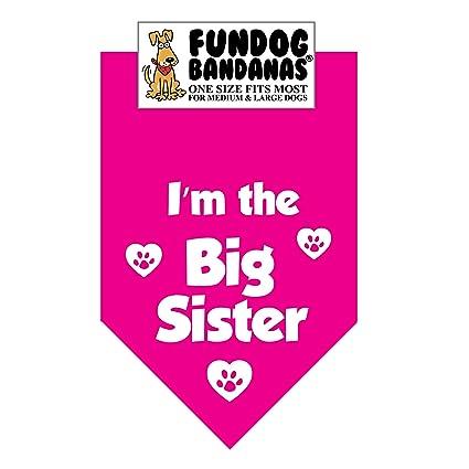 1296b20122c Amazon.com   I m the Big Sister! Dog Bandana (One Size Fits Most for ...