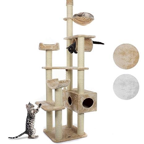 HappyPet® cat022 Rascador Árbol para gatos deckenhoch 2,30 hasta 2,60 Alto
