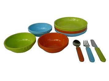 Ikea Smaska plato infantil de los niños de cuenco y cubiertos infantiles 9stück Kit de utensilios de cocina: Amazon.es: Hogar