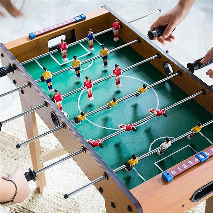 Futbolín Juegos Competición Deportes Juegos de sobremesa compacto juego de fútbol for adultos y niños recreativo portátil de mano de fútbol tabla de Foosball Apto para interiores o al aire libre: Amazon.es: