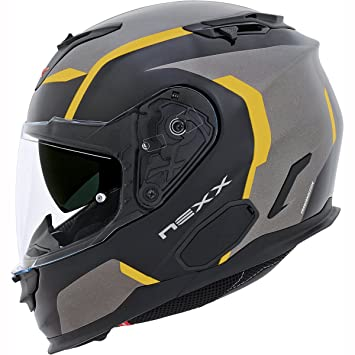 Motocicleta Nexx XT1 Galaxy casco - amarillo UK vendedor