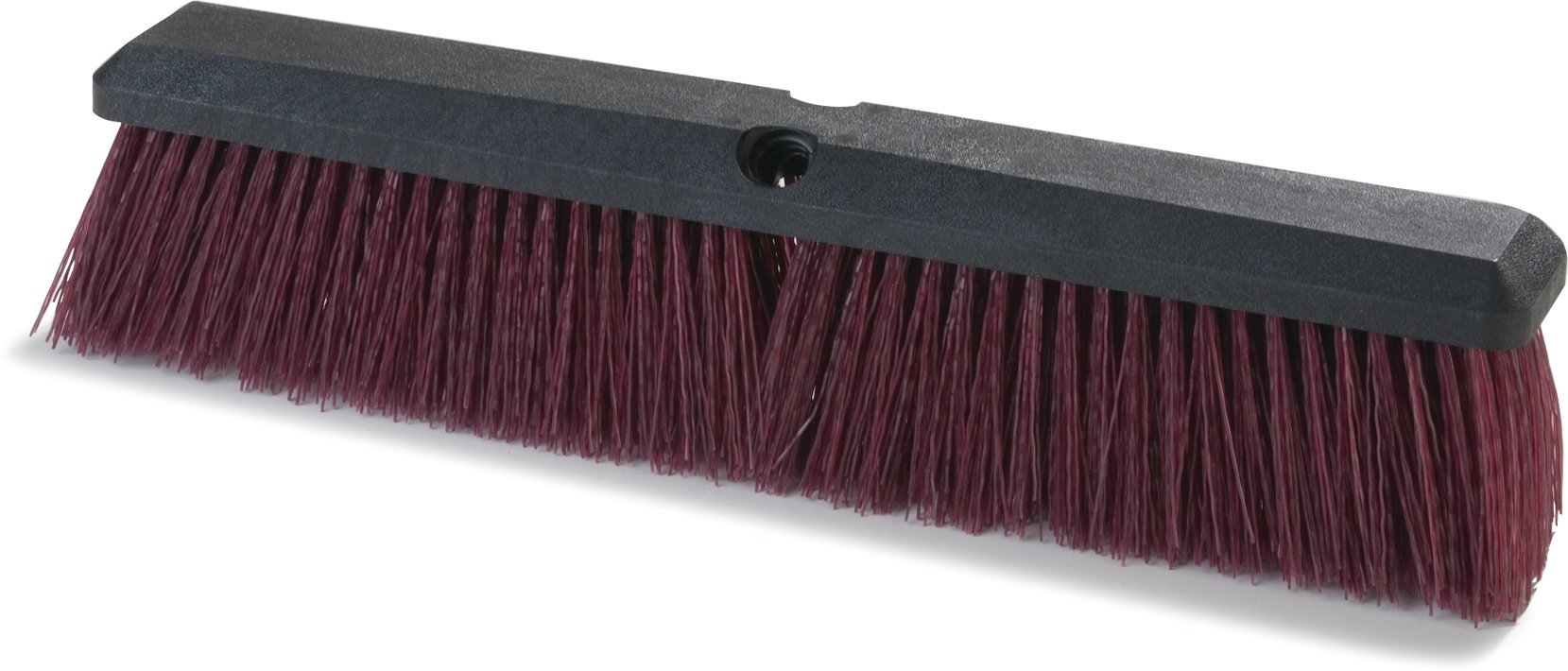Carlisle 3620722400 Flo-Pac Coarse/Heavy Floor Sweep, Hardwood Block, 3-1/4''-Long Stiff Maroon Polypropylene Bristles, 24'' L x 2-1/2'' W, (Case of 12)