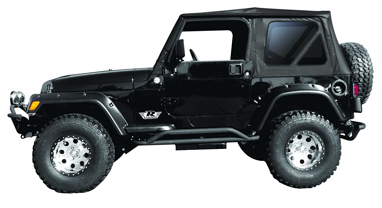 Amazon.com: Rampage Products 68735 Complete Replacement Soft Top with Frame  and Hardware: Automotive