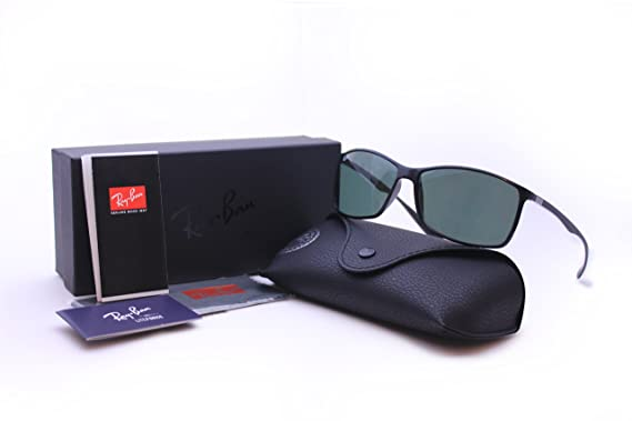 45c5dacea6 Ray Ban RB 4179 LITEFORCE TECH 601 71 62 mm Black Rectangle Sunglasses  Green Lenses