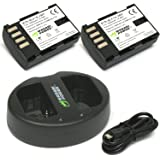 Wasabi Power Battery (2-Pack) and Dual Charger for Panasonic DMW-BLF19