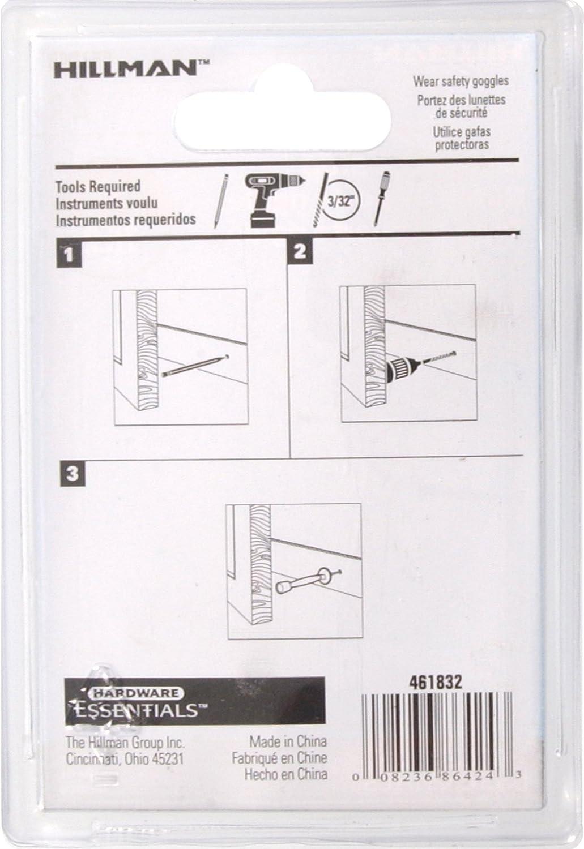 Hardware Essentials by Hillman 851340 Square Rigid Door Stop White