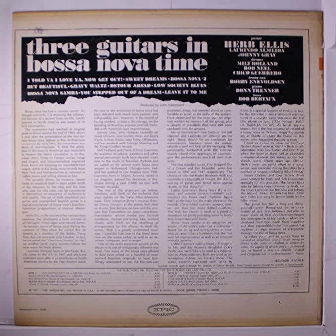 three guitars in bossa nova time: Amazon co uk: Music