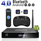 ABOX 4K Android 7.1 Smart TV BOX, 2GB RAM, 16GB ROM, 2018 Model Amlogic Quad Core A53 Processor 64 Bits, HDMI 2.0, Support Bluetooth, H.265 WIFI 2.4GHz