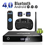 Android 7.1 TV Box, GooBang Doo [2+16GB] 2018 WIFI Antenne Intelligenter Fernsehkasten mit Mini Tastatur, XB-III Bluetooth Viererkabel-Kern Amlogic S905 Unterstützt1080p/4K