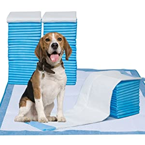 """Pet Training Puppy Pads, 34"""" x 28"""" XXL-Large, Ultra Absorbent - All Day Premium Dog Pads - 20 Count, 42 Count"""