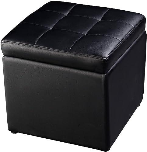 Cube Ottoman Pouffe Storage Box Lounge Seat Footstool