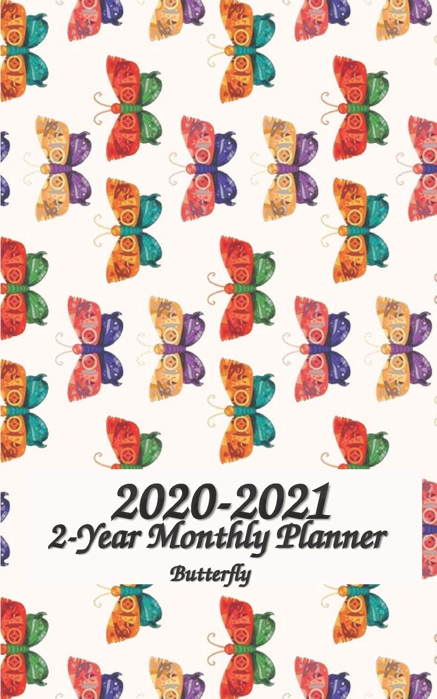 Wallet Size Calendar 2021 Amazon.com: 2020   2021 Butterfly 2 Year Monthly Planner: 5x8