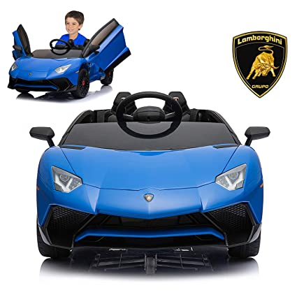 Amazon Com Lamborghini Electric Ride On Car With Remote Control For