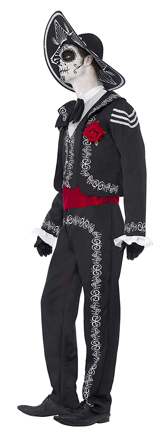 Smiffys Mens Day of The Dead Señor Bones Costume