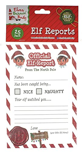 Christmas Elf Corner Reports- Pack of 25