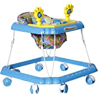 Dash Venus Deluxe Musical Baby Walker with rattles for 6-12 Months Baby boy and Girl (Blue)
