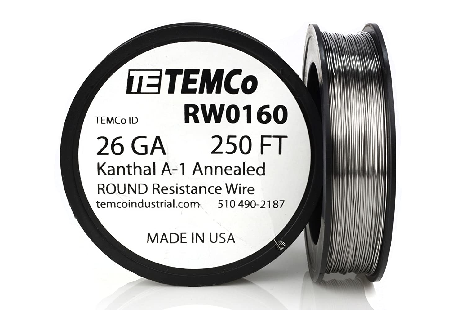 TEMCo Kanthal A1 wire 26 Gauge 250 Ft Resistance AWG A-1 ga ...