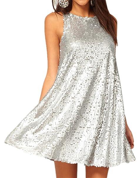 hot sale online 834b4 e2d72 Sexy Senza Maniche Splendente GlitterateSparkly Glitter ...