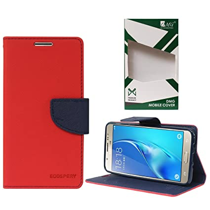 new products 108b5 bd3ff DMG Fancy Diary Wallet Book Cover Case for Samsung Galaxy J5 2016 Edition  (Red)