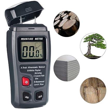 Medidor de humedad de madera, 4EVERHOPE Medidor de humedad Digital Tester de humedad, Medición de humedad ...