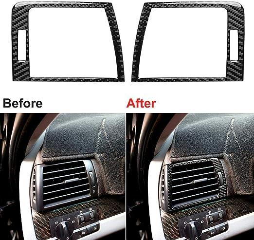 Wcnsxs Carbon Fiber Dashboard Air Vent Panel Aufkleber Zierleiste Für Bmw 3er E46 1998 05 Autozubehör Dashboard Air Vent Panel Aufkleber Sport Freizeit