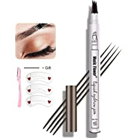 Eyebrow Pen,MoonKong Eyebrow Pencil Waterproof Brow Pen Eyebrow Makeup with a Micro-Fork Tip Applicator Creates Natural…