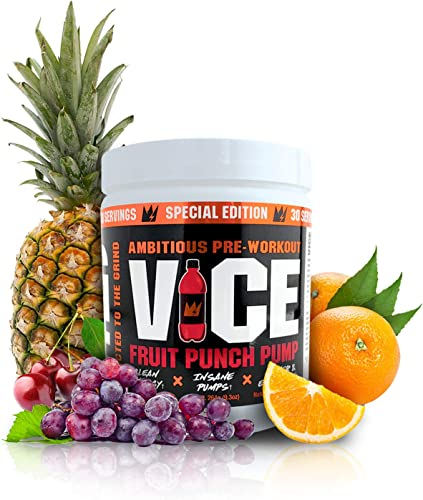 GCode VICE Ambitious Preworkout Fruit Punch Pump