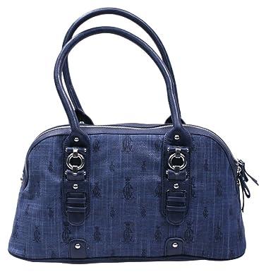Christian Audigier Joann Tweed Satchel Womens Handbag Blue  Amazon.in   Shoes   Handbags c961027edf388
