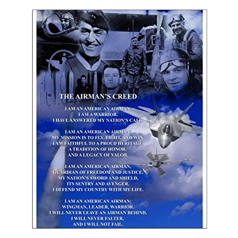 Amazon cafepress new historic airmans creed 16x20 historic airmans creed 16quotx20quot thecheapjerseys Images