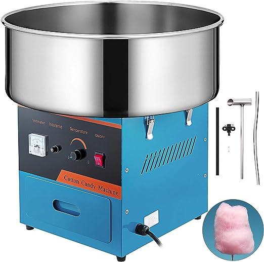 Husuper Máquina de Algodón de Azúcar 220V Azul Algodonera de Azúcar Cotton Candy Machine Máquina Profesional para Hacer Nubes de Azúcar: Amazon.es