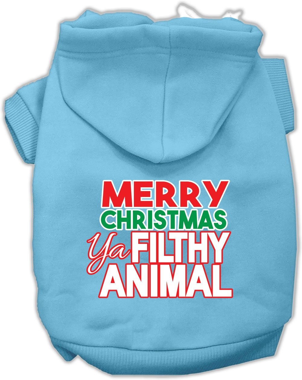 Mirage Pet Products Ya Filthy Animal Screen Print Pet Hoodie Baby Blue XS (8)