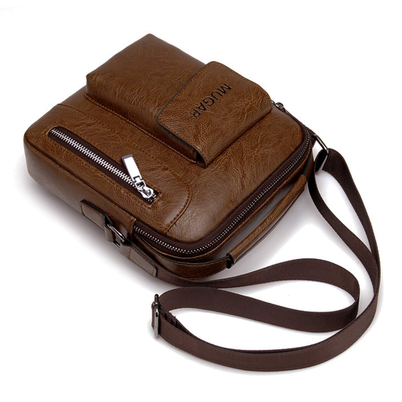FANDARE Unisexe Sac /à Bandouli/ère Imperm/éable Sac /à Main Hommes//Femmes Sac d/épaule Sac Messenger Crossbody Bag Kaki L
