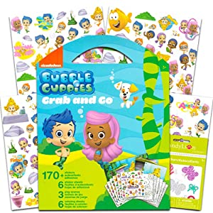 Bubble Guppies Sticker Coloring Activity Set Bundled with Specialty Separately Licensed GWW Reward Sticker