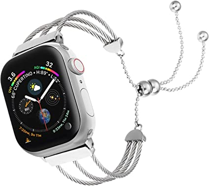 Amazon.com: Junwei - Correa de reloj compatible con Apple ...