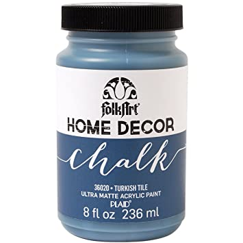 PlaidCraft Folkart Home Decor Chalk Paint 8 Oz Turkish Tile