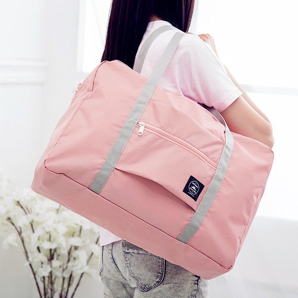 Okdeals Travel Lightweight Foldable Waterproof Carry Storage Luggage Duffle Tote Bag (Pink) by Okdeals (Image #5)