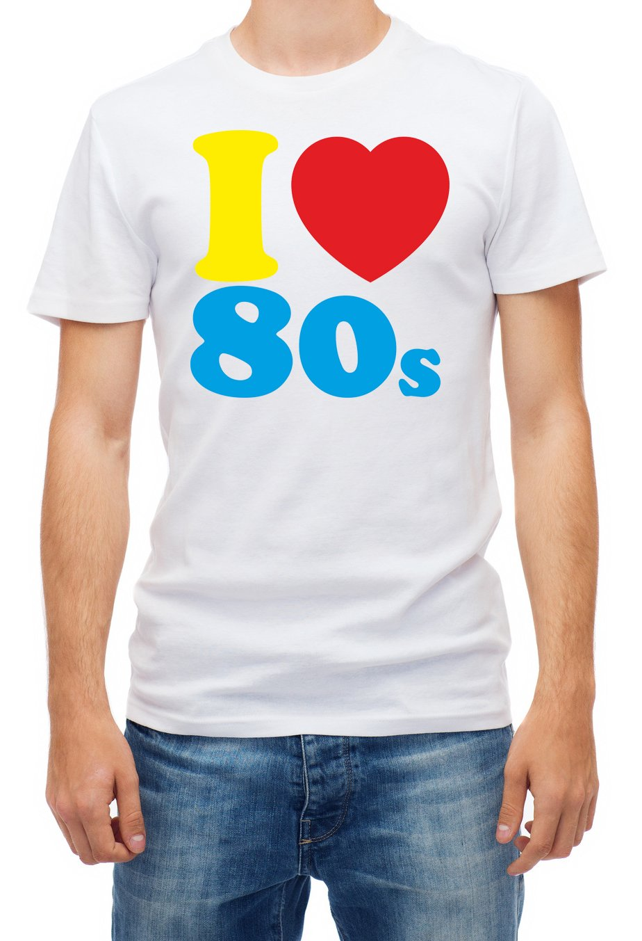 I Loveheart the 80s T-shirt for Men, S to XXL
