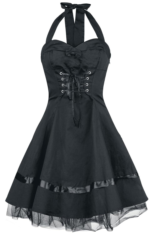 H&R London Lace Cotton Dress Kleid schwarz