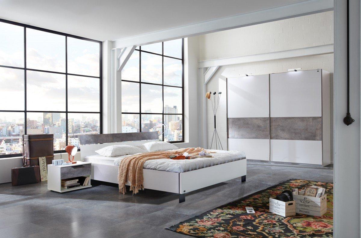 dreams4home schlafzimmer set 39 kari i 39 doppelbett 180x200 cm inkl bettkopfteil ohne matratze. Black Bedroom Furniture Sets. Home Design Ideas