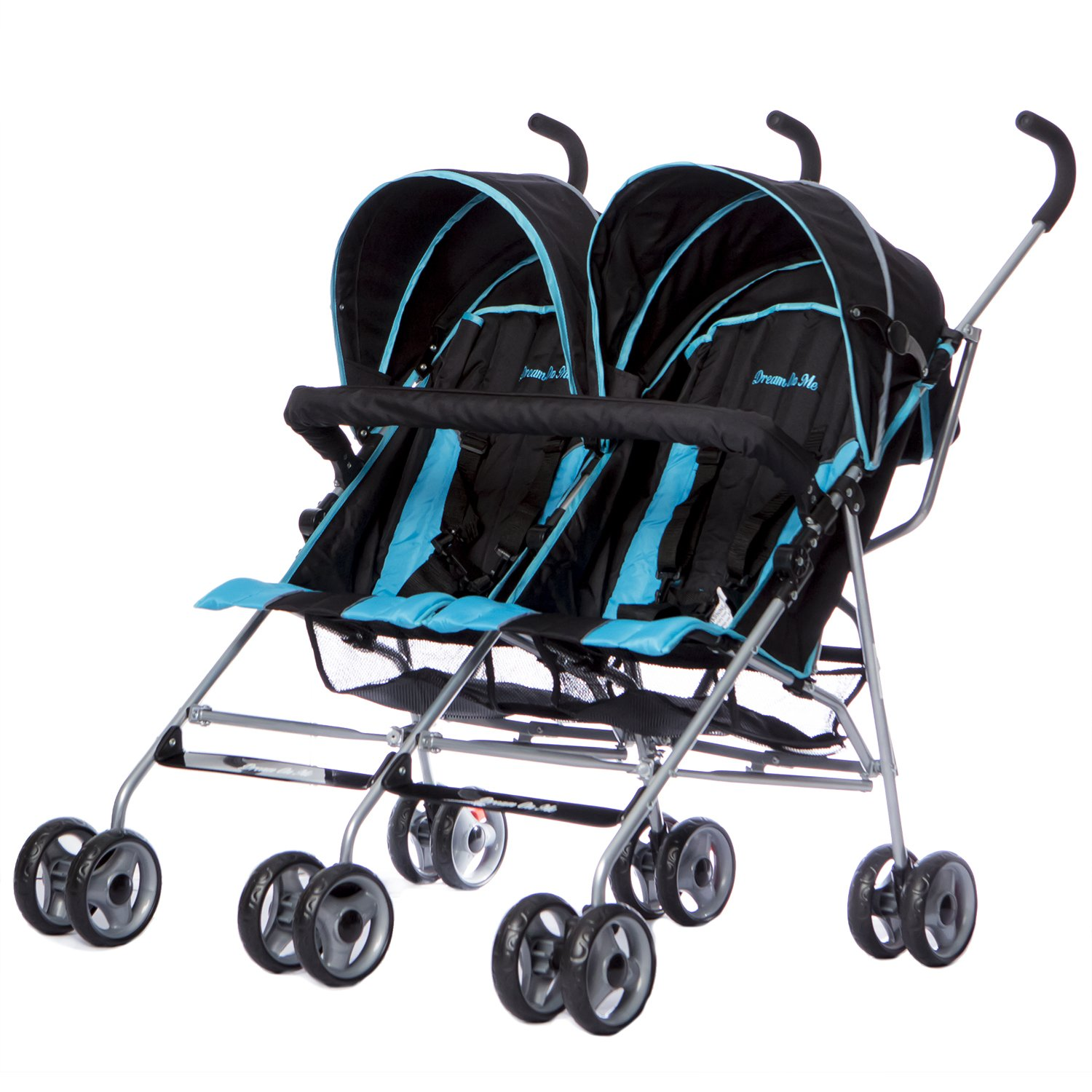 Dream On Me Twin Stroller, Dark Blue by Dream On Me (Image #1)