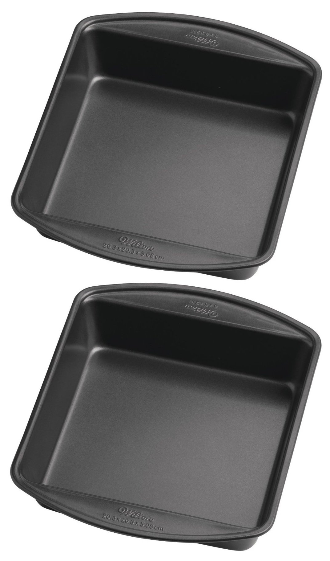 Wilton Perfect Results 8-Inch Square Cake Pan, Pack of 2 Pans
