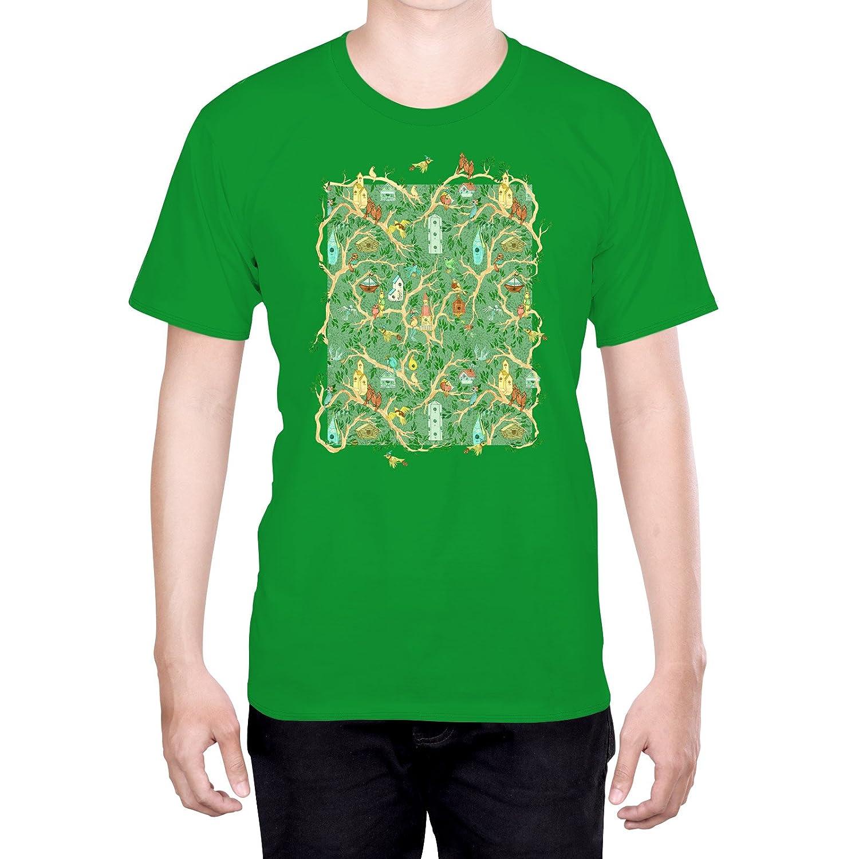 Official Anne Lambelet Enchanted Forest Pillow Art L - Large Black T-Shirt for Men