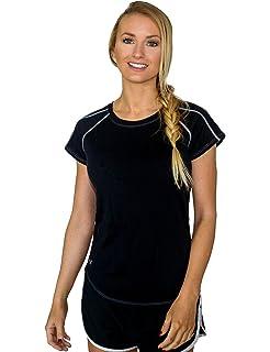 d6fcfa08 WoolX Sophie Workout Tee - Women's Gym T-Shirt - Ultra Soft Running Shirt